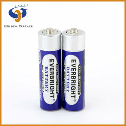 High running condition r6 aa pvc jacket chloride dry battery