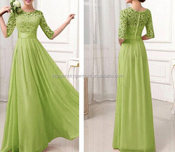 Wholesale Emerald Green Evening Dress From Dubai & Chiffon Evening Dress 2015