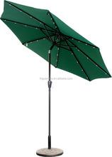 Popular straight umbrella with solar panel and LED light
