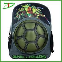 2015 new products teenage school bags, teenage mutant ninja turtles shell backpack