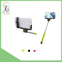 Popular Model Smartphone Camera Wireless With Bluetooth Shutter Button Extendable Selfie Stick Or Monopod
