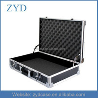 Thickened aluminium frame hard reinforced ABS tool case, 550x350x140mm