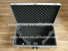 aluminum tool box with egg foam and cut-out foam