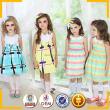 Boutique dress spanish fashion kids clothes girls latest 2015 skirt