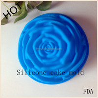 best selling products creative lovely rose shape silicone cake pan cake tools Case for Wedding