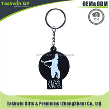 Customized soft rubber PVC keychain with wholesale price for brand company promotion