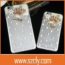 Love Crown Tansparent Diamonds Style Crystal Cellphone Case for iphone6/6 plus