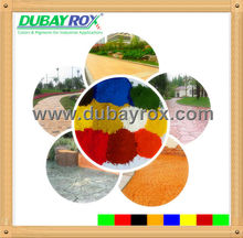 Iron oxide pigment for paint with different colors