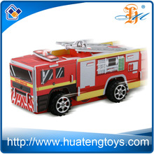 Huateng wholesale fire truck toys diy 3d educational puzzles for adults and kids
