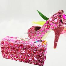 Moda altos talones venta al por mayor payless boda zapatos hechos a mano zapatos cristalinos