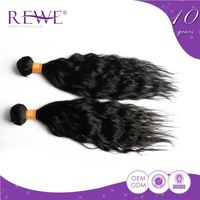 Luxury quality tangle free braids crochet indian remy ocean wave hair with human hair hair bulk