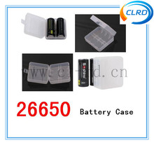 Hot selling 2 cell 26650 battery hard plastic case 26650 battery carrying case for 42A high drain 26650 Battery