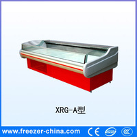 Promotion prices high quality open glass door fresh meat display cooler with CE certification