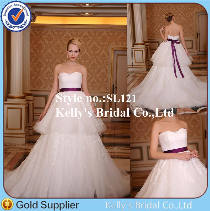 Make de tule import e de alta qualidade lace curto e saia longa vestido de noiva tradicional