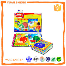 fruit baby cloth soft book OEM factory baby cloth book plush toy