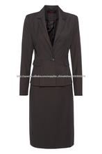 Venta al por mayor de la oficina de las señoras trajes trajes formales para el tamaño más mujeres de manga corta