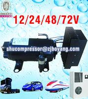 AC compressor parts 12/24v dc compressor for electric mini-van electric car cabin air conditioner