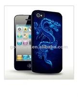 blue dragon design case for mobile phone