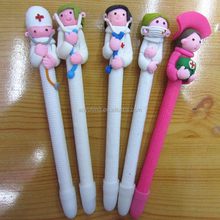 latest accessories nurse and doctors style soft pottery clay ballpoint pen ball pen for school and office supplies