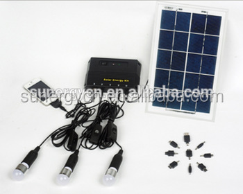 Best Solar LED Home Lighting System LED Lights With 3pcs LED Outdoor