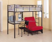 Modern Bunks Twin Workstation Metal Loft Bed BD-3048