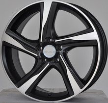 Replica alloy wheel rims1 8x7 , black machine wheels, 5x112 rims