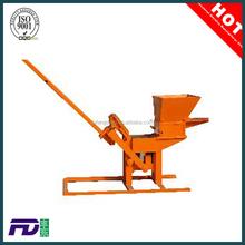 Small construction equipment QMR2-40 small clay interlocking brick making machine for sale
