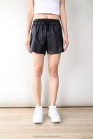 Hot Item Leather Short Casual Wear Women Trousers