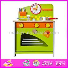 Hot sale high quality wooden play toy kitchen,new popular kids play toy kitchen, children set play toy kitchen W10C036