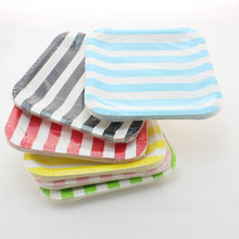 Disposable Square Paper Plates Party Supplies Party Family Gathering Dinner Dishes