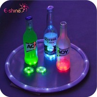 Party Supply Flashing Bottle Lighting Led Sticker Coaster