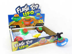 Kids Flash Top UFO with Light and Music Toys(12inl) , Top Toys for wholesale, Educational Toys for Children, DG006763