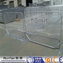 Australia galvanized removable portable diamond panel fences / chain wire temporary fence / Temporary chain link fence panels