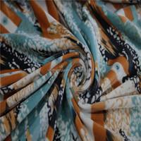 2015 Elegant Soft Printing Velvet Evening Dresses Fabric For Women Cloth