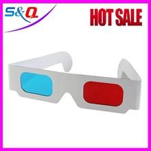Hot selling 1 color custom logo cheap paper 3d glasses for cinema