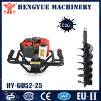 hand held transplanter soil digging machinery 52cc post hole digger with auger drill bits