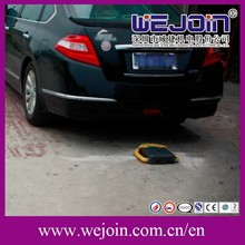 Intelligent Car Parking Guardian with Blue Cabinet Used in Parking Lot in High Level Places