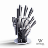 5pc steel head knife set with pom handle 3cr14 stainless steel