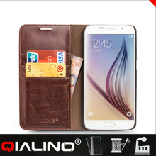 new model cover with flip case for galaxy S6 leather mobile phone case