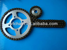 Chinese motorcycle chain 420 428 428H 520 530, motorcycle spare parts thailand