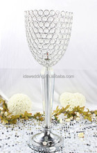 LED light centerpiece, table vase with LED light with rechargeable battery for wedding decoration