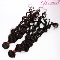 homeage fashion raw unprocessed natural curly indian temple hair