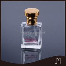 2015 unique glass perfume bottle with aluminium caps