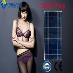 100w photovoltaic solar panel with tempered glass for home solar electricity generation system