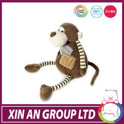 QU600/ASTM/ICTI/SEDEX 2015 Wholesale good selling Plush animals cute monkey