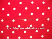2015 fashion custom design print cotton red and white polka dot fabric