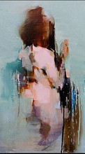 2015 New Design Hot Sell Modern Abstract Human Figure Oil Painting for Hotel Decoration