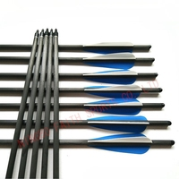 """hunting crossbow bolt 20"""" length with 4"""" vanes crossbow carbon material arrow"""