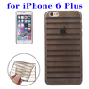 Factory Price Stripes Design TPU Back Cover Case for iPhone 6 Plus