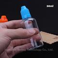 Envío rápido de plástico transparente cuentagotas botella, botella gotero de plástico PET 50 ml para eliquid